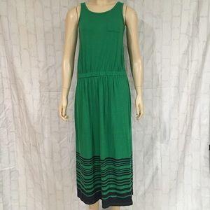 Old Navy Girls 14 Green & Blue Striped Maxi Dress